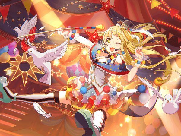 Tags: Anime, Craft Egg, BanG Dream! Girls Band Party!, Tsurumaki Kokoro, Official Card Illustration, PNG Conversion, Official Art