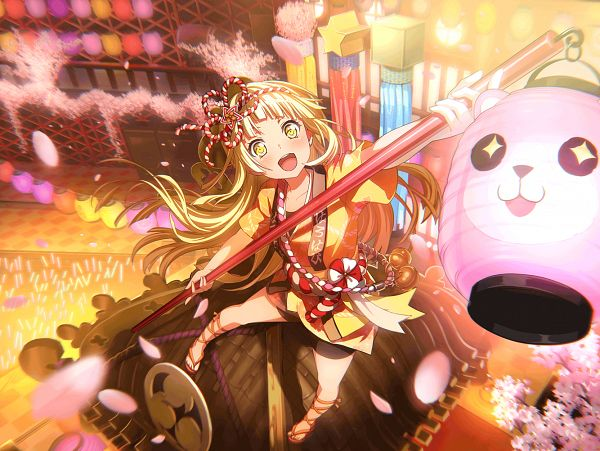 Tags: Anime, Craft Egg, BanG Dream! Girls Band Party!, Tsurumaki Kokoro, Official Card Illustration, Official Art