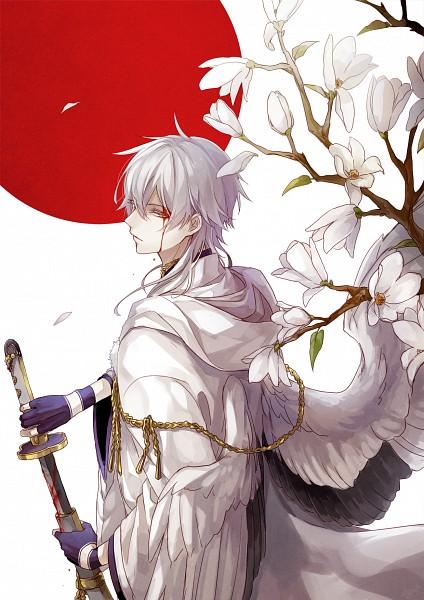 Tags: Anime, Amaichi Esora, Touken Ranbu, Tsurumaru Kuninaga, Tachi, Mobile Wallpaper, Pixiv