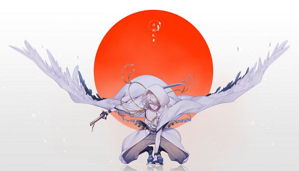 Tags: Anime, Miyamotokannn, Touken Ranbu, Tsurumaru Kuninaga, Flag Background, Fanart, Fanart From Pixiv, Pixiv