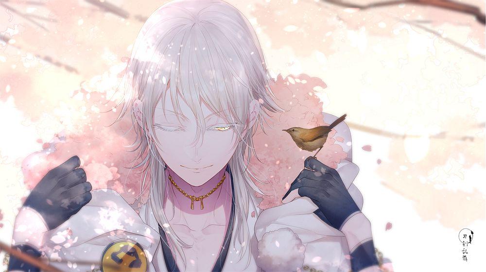 Tags: Anime, Miyamotokannn, Touken Ranbu, Tsurumaru Kuninaga, Fanart From Pixiv, Facebook Cover, Pixiv, Fanart