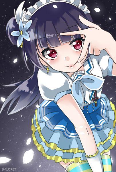 Tags: Anime, Pixiv Id 7547996, Love Live! Sunshine!!, Tsushima Yoshiko, Mobile Wallpaper, Fanart From Pixiv, Aozora Jumping Heart, PNG Conversion, Pixiv, Fanart, Yoshiko Tsushima