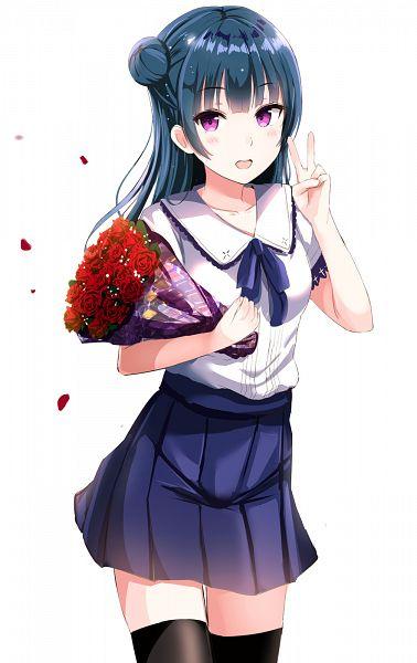 Tags: Anime, Morerin, Love Live! Sunshine!!, Tsushima Yoshiko, Mobile Wallpaper, Yoshiko Tsushima