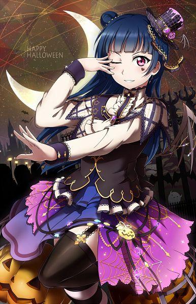 Tags: Anime, Pixiv Id 4220066, Love Live! Sunshine!!, Tsushima Yoshiko, Mobile Wallpaper