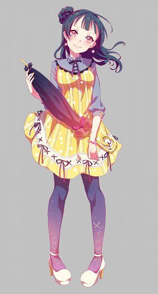 Tags: Anime, Chiigo, Love Live! Sunshine!!, Tsushima Yoshiko, PNG Conversion, Mobile Wallpaper, Yoshiko Tsushima