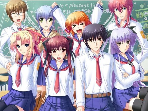 Tags: Anime, Tsuyokiss, Satou Yoshimi, Kiriya Erika, Konoe Sunao, Tachibana Serebu, CG Art