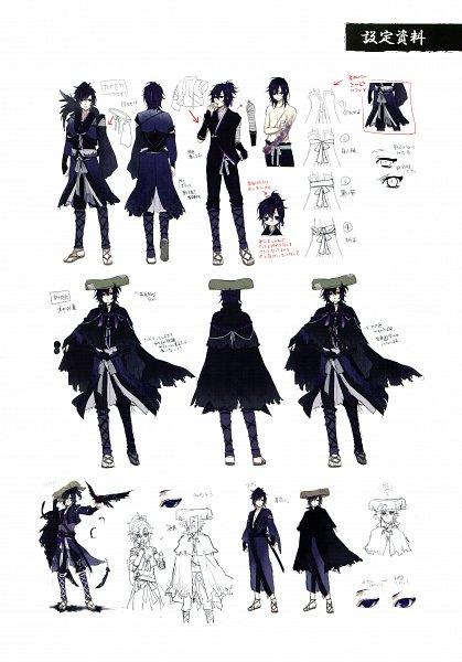 Tags: Anime, Yomi (Pixiv390297), Rejet, Ken ga Kimi Wafuu Denki Emaki, Ken ga Kimi, Tsuzuramaru, Sketch, Scan, Official Art
