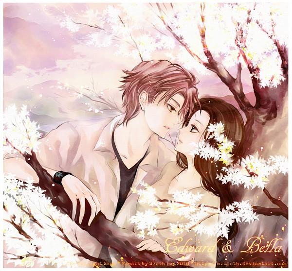 Tags: Anime, Mrsloth, Twilight, Isabella Swan, Edward Cullen, Spring, Text: Couple Name, Fanart, deviantART
