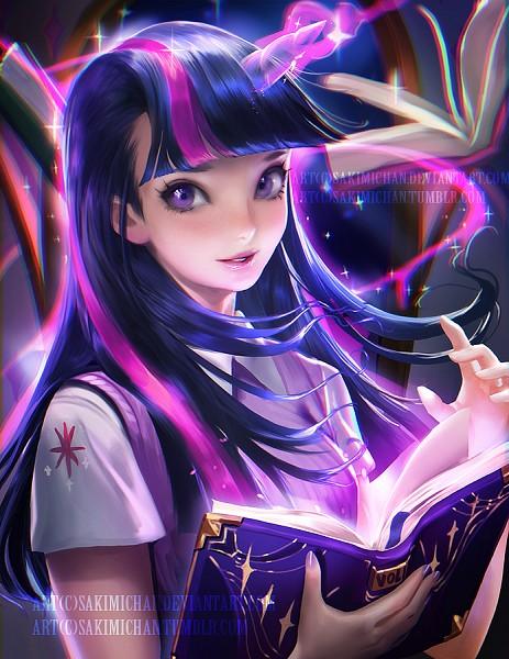 Tags: Anime, Sakimichan, My Little Pony, Twilight Sparkle, deviantART, Fanart From DeviantART, Fanart