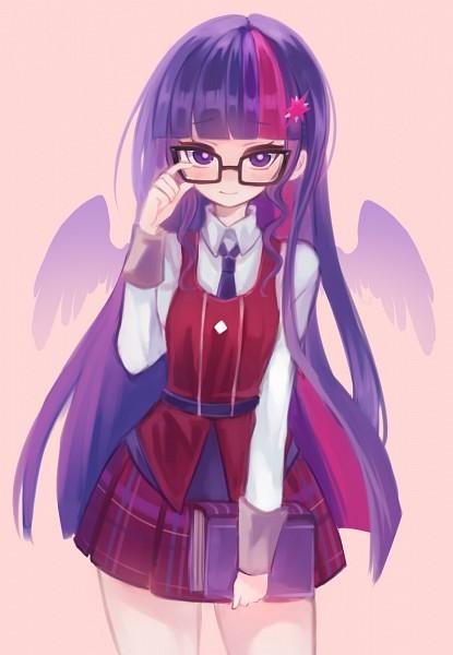 Tags: Anime, shouu-kun, My Little Pony, Twilight Sparkle, Purple Neckwear, deviantART, Fanart From DeviantART, Fanart, PNG Conversion, Mobile Wallpaper