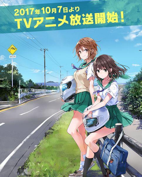 Tags: Anime, Tiv, Silver Link, Two Car, Meguro Megumi, Miyata Yuri, Official Art