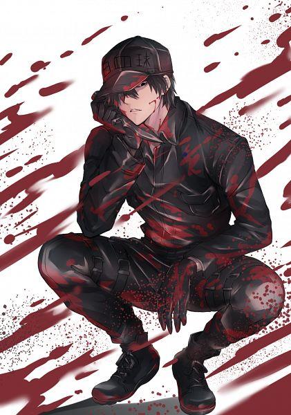 Tags: Anime, Pixiv Id 21230641, Hataraku Saibou, U-1146, Neutrophil, Name Tag, Dripping, Arm Rest, Text: Character Group Name, Pixiv, Fanart, Fanart From Pixiv