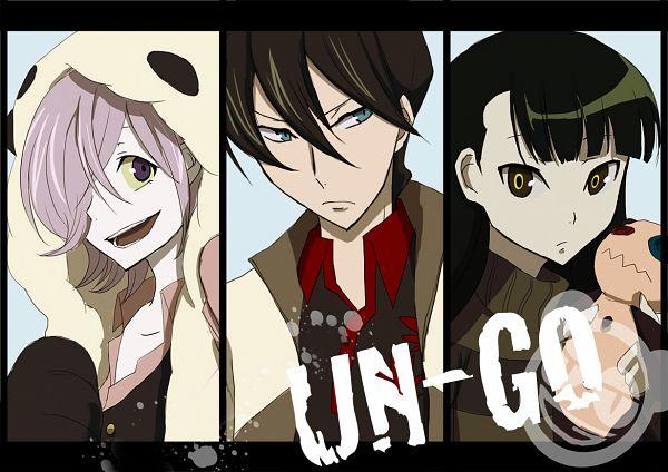 Tags: Anime, Pixiv Id 3293921, UN-GO, Kazamori Sasa, Yuuki Shinjuurou, Inga, Stuffed Panda, Pandamimi