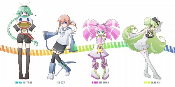 Tags: Anime, Pixiv Id 620776, UTAU, Macloid, Haruka Nana, Macne Nana, Sou77, Mitani Nana, Fanart, Pixiv, Wallpaper