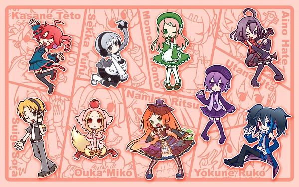 Tags: Anime, Hakusairanger, UTAU, Defoko, Kasane Teto, Ooka Miko, Momone Momo, Suiga Sora, Yokune Ruko, Aino Hate, Namine Ritsu, Sekka Yufu, Pixiv