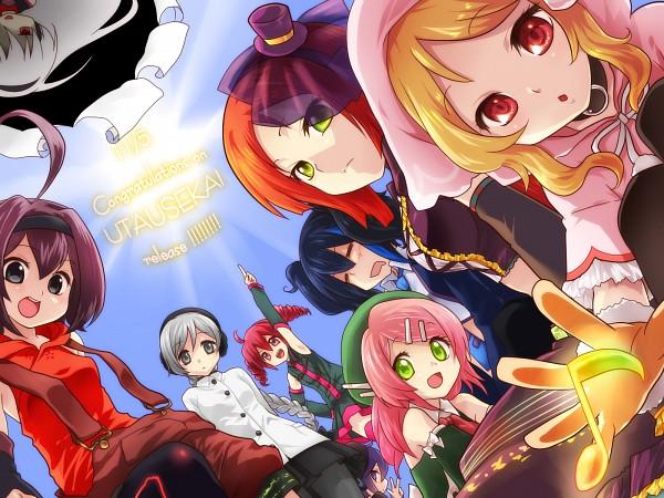 Tags: Anime, Oumi Sanaka, UTAU, Kasane Teto, Ooka Miko, Momone Momo, Sukone Tei, Yokune Ruko, Aino Hate, Namine Ritsu, Sekka Yufu, Defoko, Wallpaper