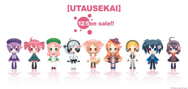 Tags: Anime, Hakusairanger, UTAU, Yokune Ruko, Aino Hate, Namine Ritsu, Sekka Yufu, Defoko, Kasane Teto, Ooka Miko, Momone Momo, Suiga Sora, Pixiv