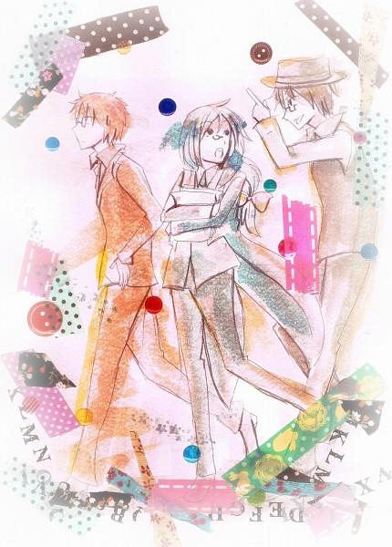 Tags: Anime, UTAU, Soune Taya, Tsurigane Sou, Tsuine Owata, Pixiv, Fanart From Pixiv, Fanart