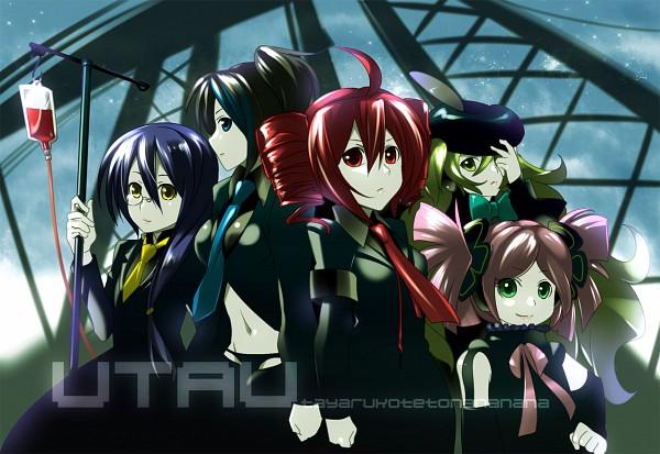 Tags: Anime, CAFFEIN, UTAU, Macloid, Soune Taya, Haruka Nana, Kasane Teto, Macne Nana, Yokune Ruko, Pixiv, Fanart, Vipperloid