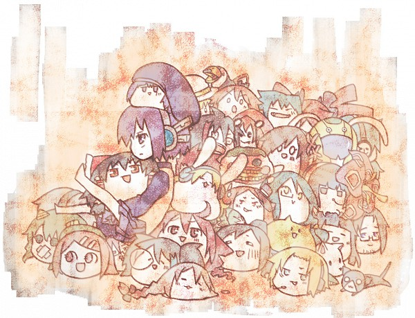 Tags: Anime, Pixiv Id 832460, UTAU, Nene Nene, Kasane Teto, Yurika Sayu, Rook, Satemaro, Momone Momo, Amane Luna, Shouka Tori, Keiga Sutora, Sekka Yufu