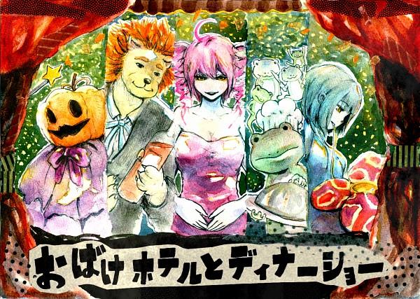 Tags: Anime, Pixiv Id 1425492, UTAU, Giga Lacan, La Zimakie, Kasane Teto, Nene Nene, Pumpking the Testloid, Pixiv, Fanart, Traditional Media