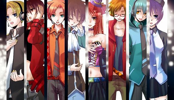 Tags: Anime, Cat0178, UTAU, Katapa Ruto, Namine Ritsu, Tsuine Owata, Defoko, Rook, Shigure Nao, Higasa Seo, Suiga Sora, Hand on Headphones, Pixiv