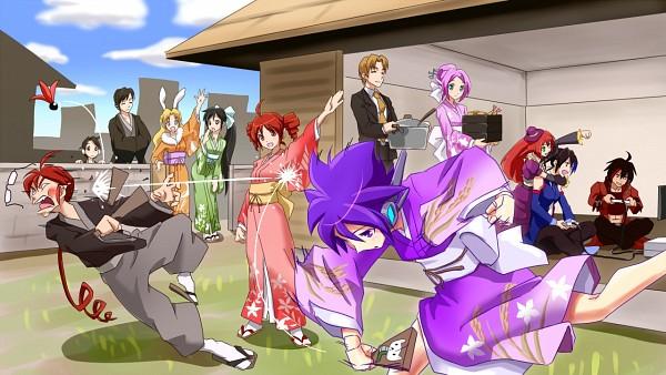 Tags: Anime, Harisenbon, UTAU, Todoroki Eiichi, Kasane Ted, Suiga Sora, Defoko, Kasane Teto, Amane Luna, Momone Momo, Rook, Namine Ritsu, Yokune Ruko