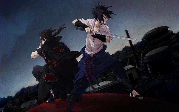 Tags: Anime, NARUTO, Uchiha Itachi, Uchiha Sasuke, HD Wallpaper, Wallpaper, Artist Request, Uchiha Brothers