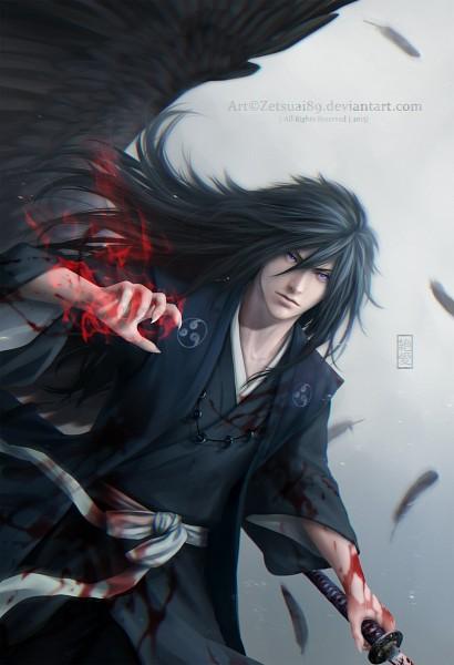 Tags: Anime, Zetsuai89, NARUTO, Uchiha Madara, Magatama, Blood On Weapons, Fanart From DeviantART, Fanart, Mobile Wallpaper, PNG Conversion, deviantART