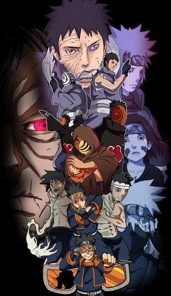 Tags: Anime, NARUTO, Hatake Kakashi, Uchiha Obito, Uzumaki Naruto, Uchiha Madara, Nohara Rin, Namikaze Minato, Mobile Wallpaper, Team Minato, Uchiha Clan, Obito Uchiha