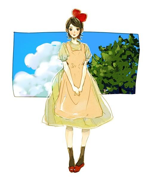 Tags: Anime, Pixiv Id 3811721, NARUTO, Uchiha Sarada, Kiki (Majo no Takkyuubin) (Cosplay), Fanart, Fanart From Pixiv, Pixiv, Sarada Uchiha