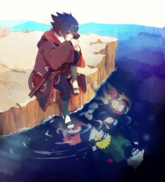 Tags: Anime, Pixiv Id 633519, NARUTO, Hatake Kakashi, Uchiha Sasuke, Uzumaki Naruto, Haruno Sakura, Different Reflection, Fanart, Pixiv, Team 7