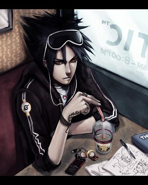 Tags: Anime, Ninjatic, NARUTO, BLEACH, Uzumaki Naruto, Kurosaki Ichigo, Uchiha Sasuke, Contemporary, USB, Drawing (Object), Earbuds, Fanart