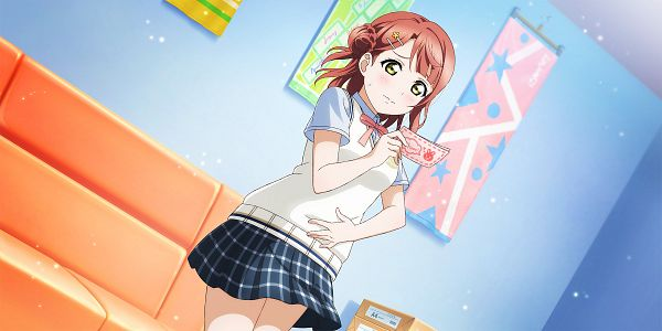 Tags: Anime, KLab, Love Live! School Idol Festival ALL STARS, Uehara Ayumu, Official Card Illustration, Official Art