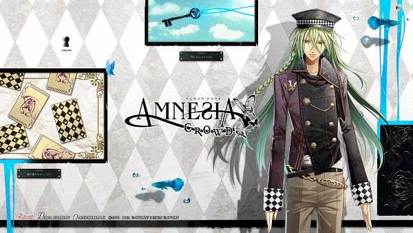 Tags: Anime, IDEA FACTORY, AMNESIA, Ukyo (AMNESIA), Joker, Keyhole, HD Wallpaper, Official Art, Facebook Cover, Official Wallpaper, Wallpaper