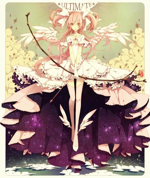 Tags: Anime, Yugake (mrnmrm), Mahou Shoujo Madoka☆Magica, Ultimate Madoka, Kaname Madoka, Slender, Detailed, Gown, Pixiv