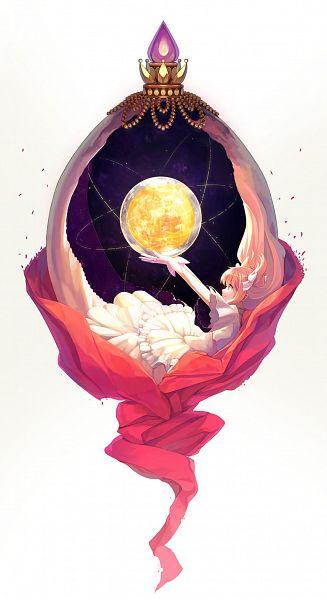 Tags: Anime, Libert, Mahou Shoujo Madoka☆Magica, Ultimate Madoka, Kaname Madoka, Soul Gem, Mobile Wallpaper, Pixiv, Fanart