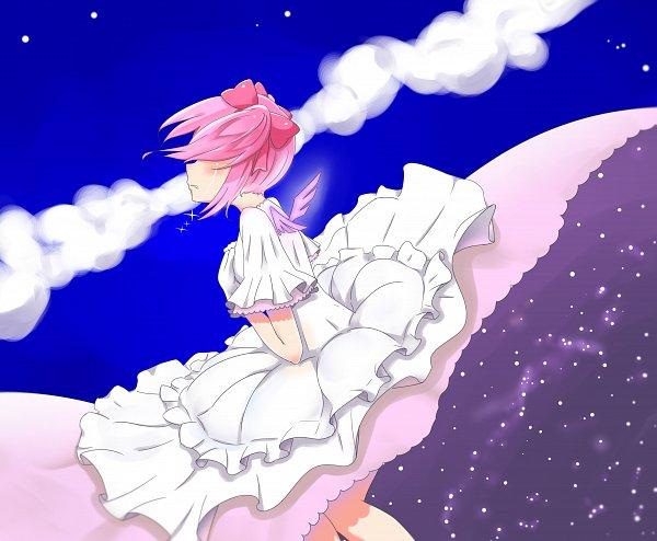Tags: Anime, Pixiv Id 20045581, Mahou Shoujo Madoka☆Magica, Ultimate Madoka, Kaname Madoka, Shrot Twin Tails, Pixiv, Fanart, Fanart From Pixiv