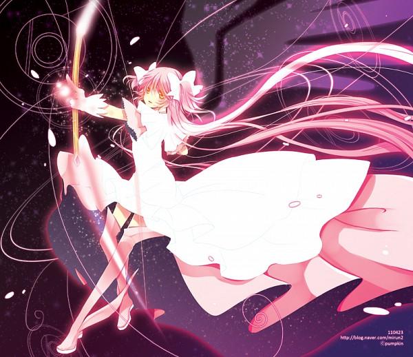 Tags: Anime, kempin, Mahou Shoujo Madoka☆Magica, Ultimate Madoka, Kaname Madoka, Slender, Aiming To Side, Gown