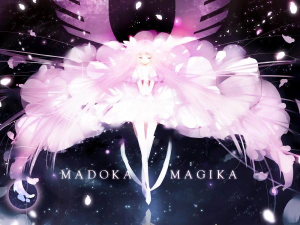 Tags: Anime, Yu-kichi, Mahou Shoujo Madoka☆Magica, Ultimate Madoka, Kaname Madoka, Praying, Slender, Standing On Tip Toes, Bright Colors, 1000x750 Wallpaper, Gown, Wallpaper, Pixiv
