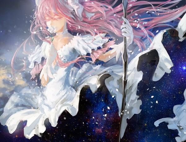 Tags: Anime, Archlich, Mahou Shoujo Madoka☆Magica, Ultimate Madoka, Kaname Madoka, Sky Print, Pixiv, Fanart