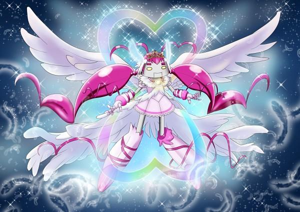 Tags: Anime, Pixiv Id 1607147, Smile Precure!, Ultra Cure Happy, Hoshizora Miyuki, Happy Robo, Fanart From Pixiv, Pixiv, Fanart