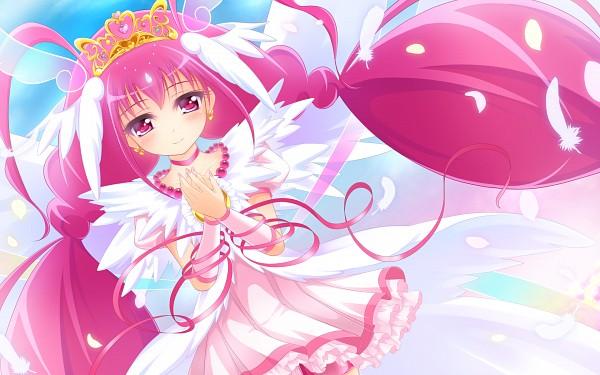 Tags: Anime, Pixiv Id 3183303, Smile Precure!, Ultra Cure Happy, Hoshizora Miyuki, Fanart From Pixiv, Pixiv, Wallpaper, Fanart