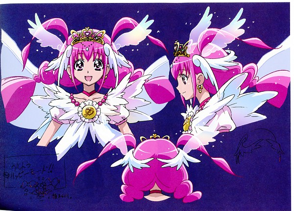 Tags: Anime, Kawamura Toshie, Smile Precure!, Ultra Cure Happy, Hoshizora Miyuki, Cure Happy, Official Art, Character Sheet
