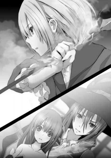 Tags: Anime, Sakano Taiga, Ulysses: Jeanne d'Arc to Renkin no Kishi, Astaroth (Ulysses), Montmorency (Ulysses), Jeanne d'Arc (Ulysses), Novel Illustration, Official Art