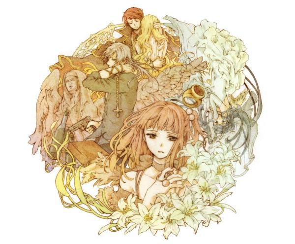 Tags: Anime, Robata, 07th Expansion, Umineko no Naku Koro ni, Ushiromiya Battler, Ushiromiya Ange, Furudo Erika, Beatrice, Amakusa Juuza, Fanart, Pixiv, When The Seagulls Cry