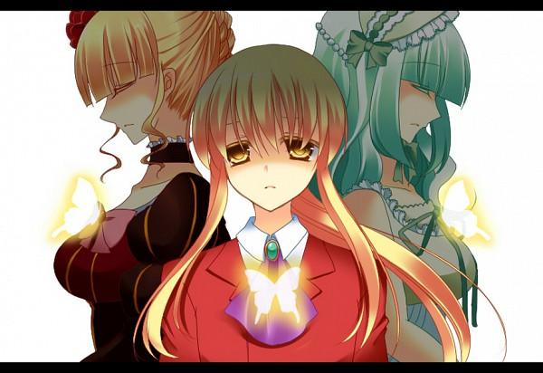 Tags: Anime, 07th Expansion, Umineko no Naku Koro ni, Beatrice, Claire Bernardus, Ushiromiya Lion, When The Seagulls Cry