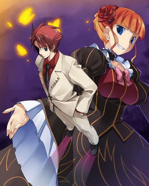 Tags: Anime, Chikugen Shiina, 07th Expansion, Umineko no Naku Koro ni, Beatrice, Ushiromiya Battler, Pixiv, When The Seagulls Cry