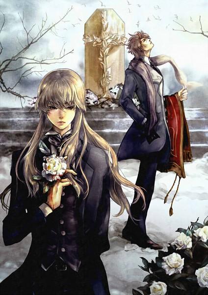 Tags: Anime, Crimo, 07th Expansion, Umineko no Naku Koro ni, Ushiromiya Lion, Willard H. Wright, Mobile Wallpaper, When The Seagulls Cry