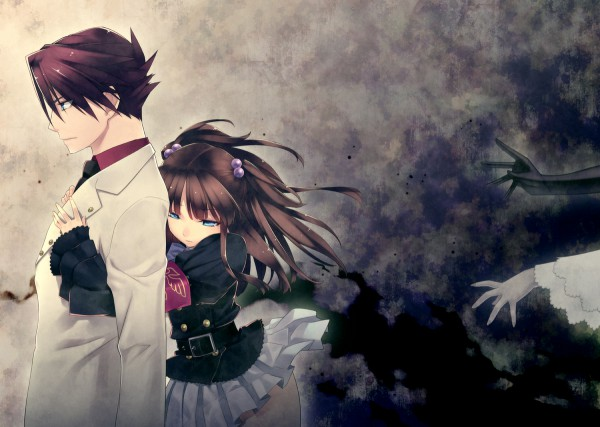Tags: Anime, Pixiv Id 1202280, 07th Expansion, Umineko no Naku Koro ni, Frederica Bernkastel, Ushiromiya Battler, Ushiromiya Ange, Lambdadelta, Unnaturally Black Skin, When The Seagulls Cry